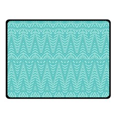 Boho Teal Pattern Fleece Blanket (small) by SpinnyChairDesigns