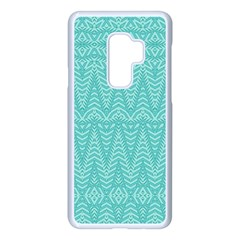 Boho Teal Pattern Samsung Galaxy S9 Plus Seamless Case(white)