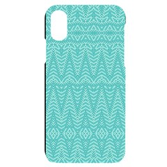 Boho Teal Pattern Iphone X/xs Black Uv Print Case by SpinnyChairDesigns