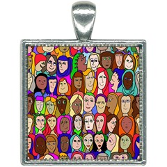 432sisters Square Necklace
