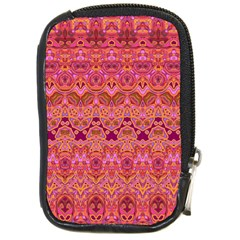 Boho Pink Pattern Compact Camera Leather Case