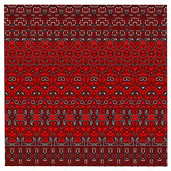 Boho Red Black Grey Wooden Puzzle Square by SpinnyChairDesigns