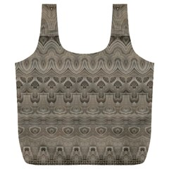 Boho Khaki  Full Print Recycle Bag (xxxl)