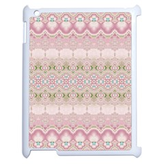 Boho Pastel Spring Floral Pink Apple Ipad 2 Case (white)
