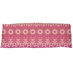 Boho Pink Floral Pattern Body Pillow Case (dakimakura)