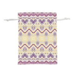 Boho Violet Yellow Lightweight Drawstring Pouch (s)