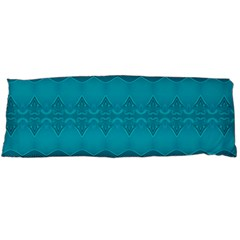 Boho Teal Pattern Body Pillow Case (dakimakura)