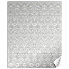 Boho White Wedding Lace Pattern Canvas 11  X 14