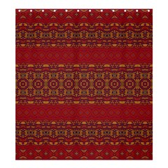 Boho Red Gold Shower Curtain 66  X 72  (large)