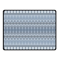 Boho Faded Blue Grey Fleece Blanket (small) by SpinnyChairDesigns