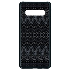 Boho Black And Silver Samsung Galaxy S10 Plus Seamless Case (black) by SpinnyChairDesigns