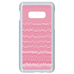 Boho Pink Stripes Samsung Galaxy S10e Seamless Case (white)