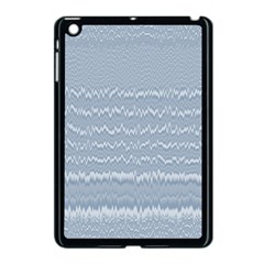 Boho Faded Blue Stripes Apple Ipad Mini Case (black)
