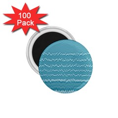 Boho Teal Stripes 1 75  Magnets (100 Pack)