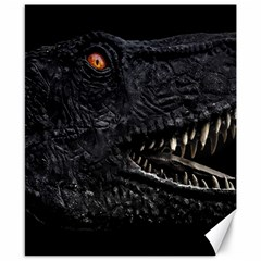 Trex Dinosaur Head Dark Poster Canvas 8  X 10  by dflcprintsclothing