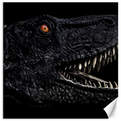 Trex Dinosaur Head Dark Poster Canvas 20  X 20