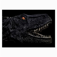 Trex Dinosaur Head Dark Poster Large Glasses Cloth (2 Sides)