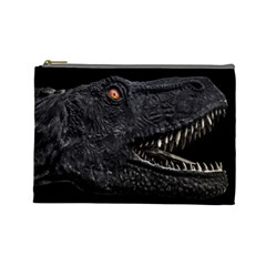 Trex Dinosaur Head Dark Poster Cosmetic Bag (large)