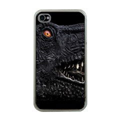 Trex Dinosaur Head Dark Poster Iphone 4 Case (clear)