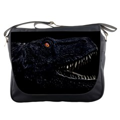 Trex Dinosaur Head Dark Poster Messenger Bag