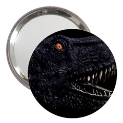 Trex Dinosaur Head Dark Poster 3  Handbag Mirrors by dflcprintsclothing