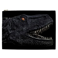 Trex Dinosaur Head Dark Poster Cosmetic Bag (xxl)