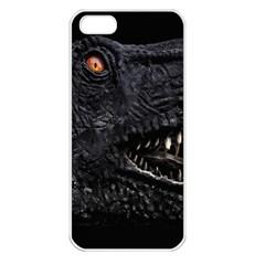 Trex Dinosaur Head Dark Poster Iphone 5 Seamless Case (white)