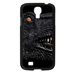 Trex Dinosaur Head Dark Poster Samsung Galaxy S4 I9500/ I9505 Case (black)