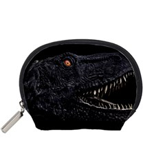 Trex Dinosaur Head Dark Poster Accessory Pouch (small)