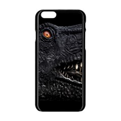 Trex Dinosaur Head Dark Poster Iphone 6/6s Black Enamel Case