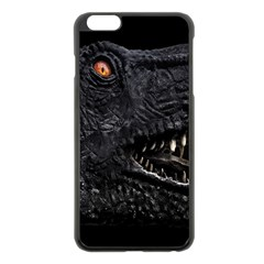 Trex Dinosaur Head Dark Poster Iphone 6 Plus/6s Plus Black Enamel Case