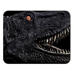 Trex Dinosaur Head Dark Poster Double Sided Flano Blanket (large)