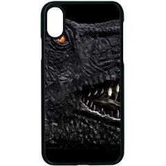 Trex Dinosaur Head Dark Poster Iphone Xs Seamless Case (black)