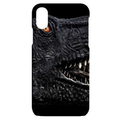 Trex Dinosaur Head Dark Poster Iphone X/xs Black Uv Print Case