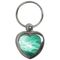Biscay Green Glow Key Chain (heart)
