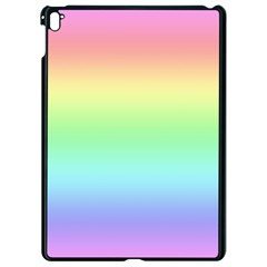 Pastel Rainbow Ombre Apple Ipad Pro 9 7   Black Seamless Case by SpinnyChairDesigns