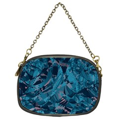 Boho Cerulean Blue Mosaic Chain Purse (one Side) by SpinnyChairDesigns