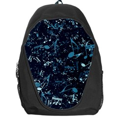 Prussian Blue Music Notes Backpack Bag