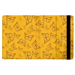 Mustard Yellow Monarch Butterflies Apple Ipad Pro 12 9   Flip Case by SpinnyChairDesigns