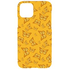 Mustard Yellow Monarch Butterflies Iphone 11 Pro Black Uv Print Case
