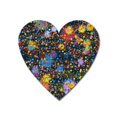 Abstract Paint Splatters Heart Magnet by SpinnyChairDesigns