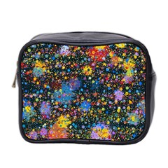 Abstract Paint Splatters Mini Toiletries Bag (two Sides) by SpinnyChairDesigns