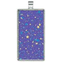 Starry Night Purple Rectangle Necklace