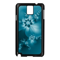 Teal Floral Print Samsung Galaxy Note 3 N9005 Case (black)