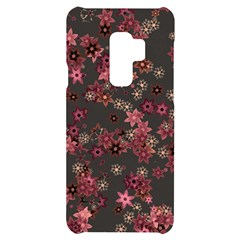 Pink Wine Floral Print Samsung S9 Plus Black Uv Print Case by SpinnyChairDesigns