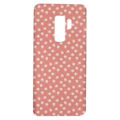 Coral Pink White Floral Print Samsung Galaxy S9 Plus Tpu Uv Case by SpinnyChairDesigns