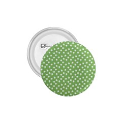 Spring Green White Floral Print 1 75  Buttons