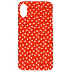 Red White Floral Print Iphone Xr Black Uv Print Case