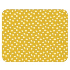 Saffron Yellow White Floral Pattern Double Sided Flano Blanket (medium)  by SpinnyChairDesigns