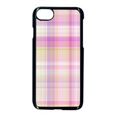 Pink Madras Plaid Iphone 7 Seamless Case (black) by SpinnyChairDesigns